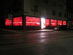 Lipstick Demands exposition, external view, blumberg gallery vienna – © Katharina Struber