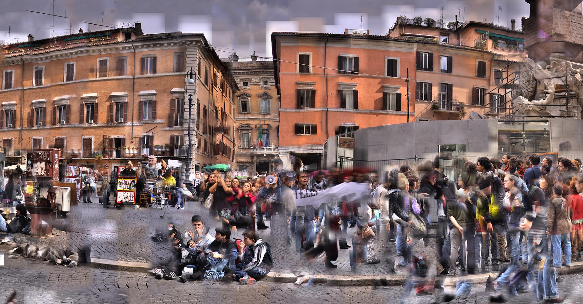 Piazza Navona Mi. 29. Okt 2008 &  Di. 16. März 2010 – © Katharina Struber
