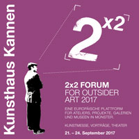 Logo 2x2 Forum Outsider Art in Kannen